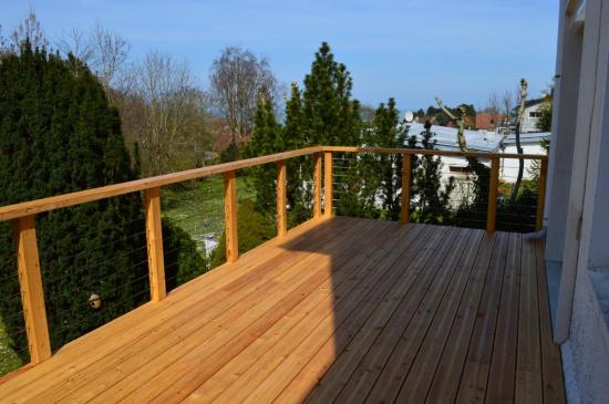 Terrasse bois sur pilotis en m l ze 76370 berneval le for Prix terrasse bois sur pilotis