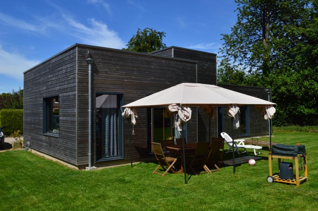 Maison bois plain pied luneray 76810 djsl bois - Maison en bois plein pied ...