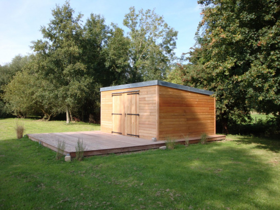 abris de jardin bois sur mesure djsl bois. Black Bedroom Furniture Sets. Home Design Ideas