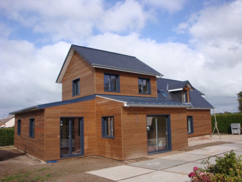 Maison bois longueil 76860 djsl bois for Maisons scandinaves en bois