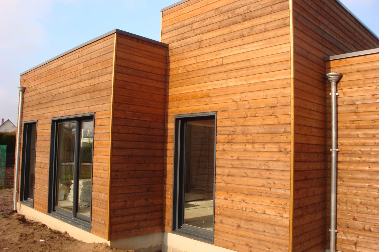 Maison bois plain pied luneray 76810 djsl bois for Maison en bois vaucluse