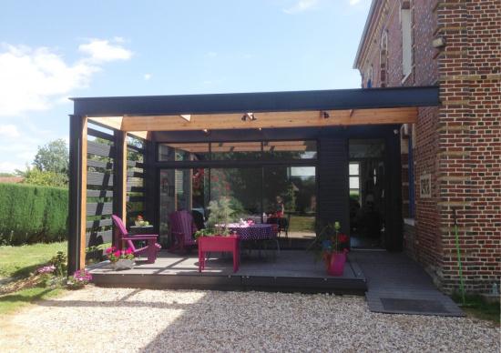 extension bois fresne le plan 76520 djsl bois. Black Bedroom Furniture Sets. Home Design Ideas