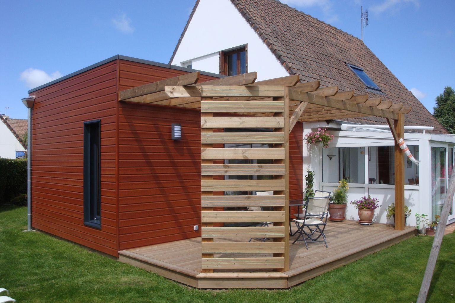 Extensions bois offranville 76550 djsl bois for Extension maison zone rurale