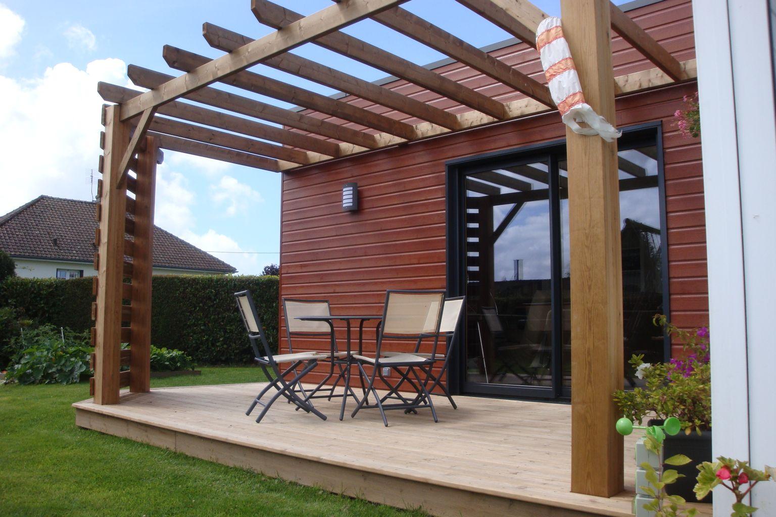 Extensions bois offranville 76550 djsl bois for Pergola fait maison