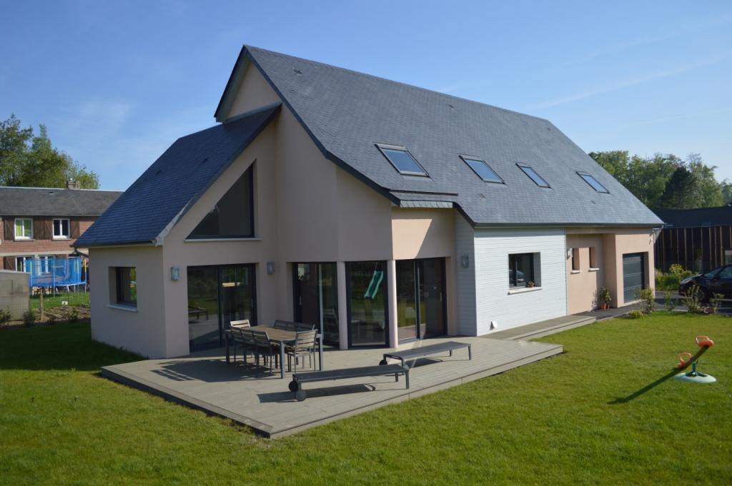 terrasse en bois composite offranville 76550 djsl bois. Black Bedroom Furniture Sets. Home Design Ideas