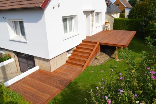 Terrasse En Bois Sur Pilotis A Dieppe 76200 Djsl Bois