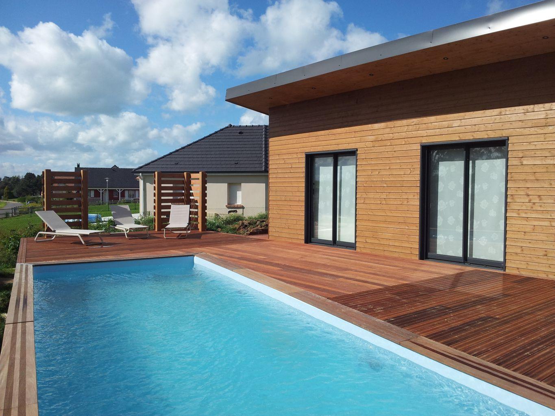 Assez Terrasse avec piscine - Berneval le Grand (76370) > DJSL-Bois NN22