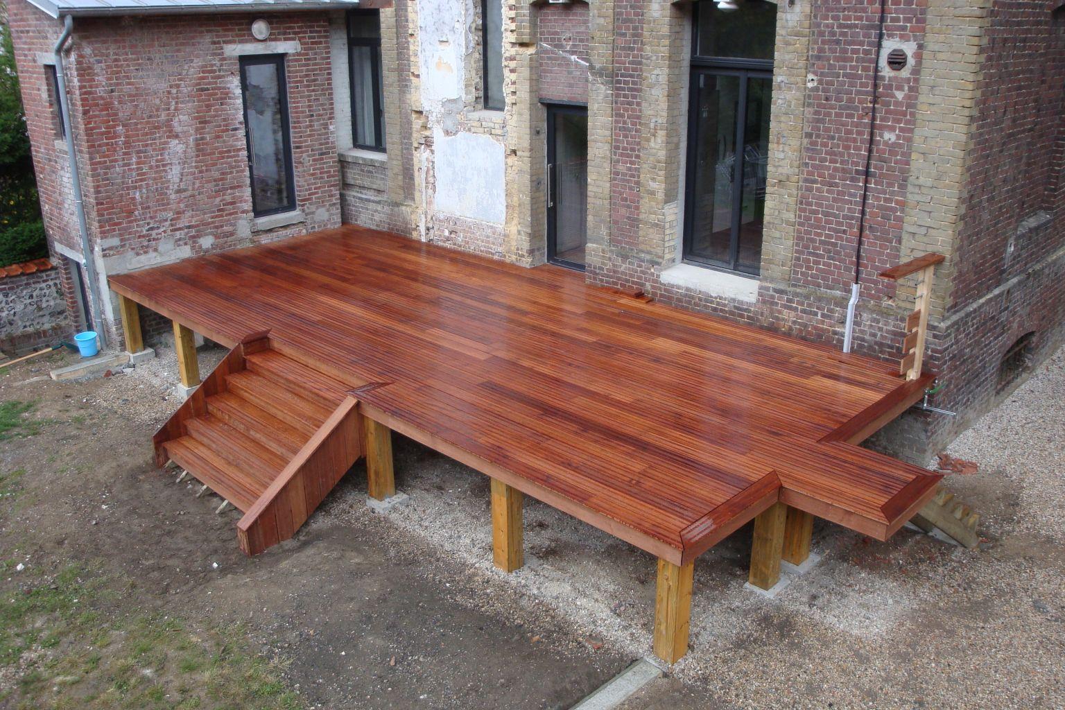 Terrasse bois exotique dieppe 76200 djsl bois for Prix d une terrasse en bois exotique